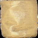 Panier de rangement rond coloris doré h11cm-ETINCELLE