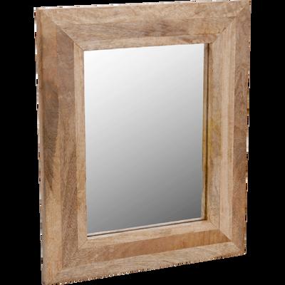 Miroir rectangulaire en bois 40x50cm-FICUS