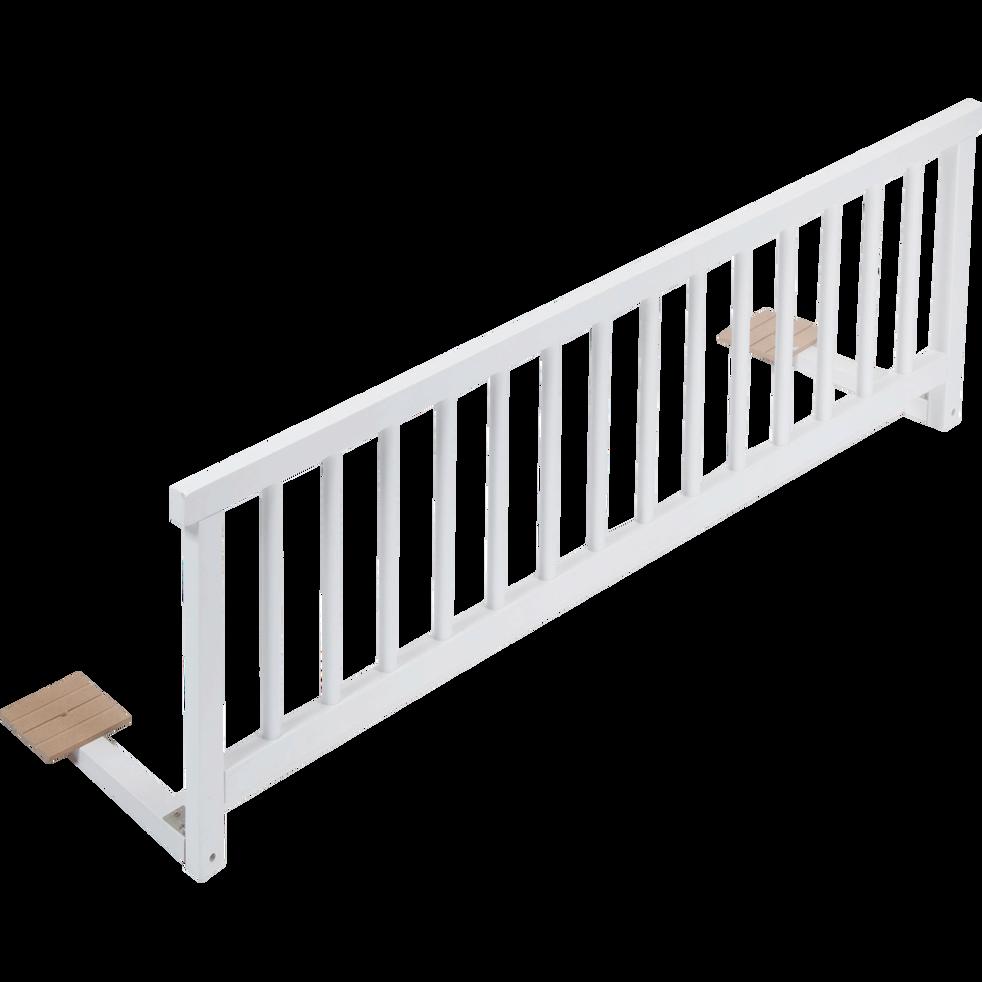 barri re de lit universelle en h tre massif blanc titou. Black Bedroom Furniture Sets. Home Design Ideas