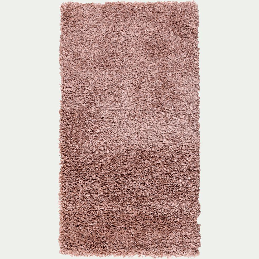 Descente de lit à poils longs - rose poudré 60x110cm-Kris