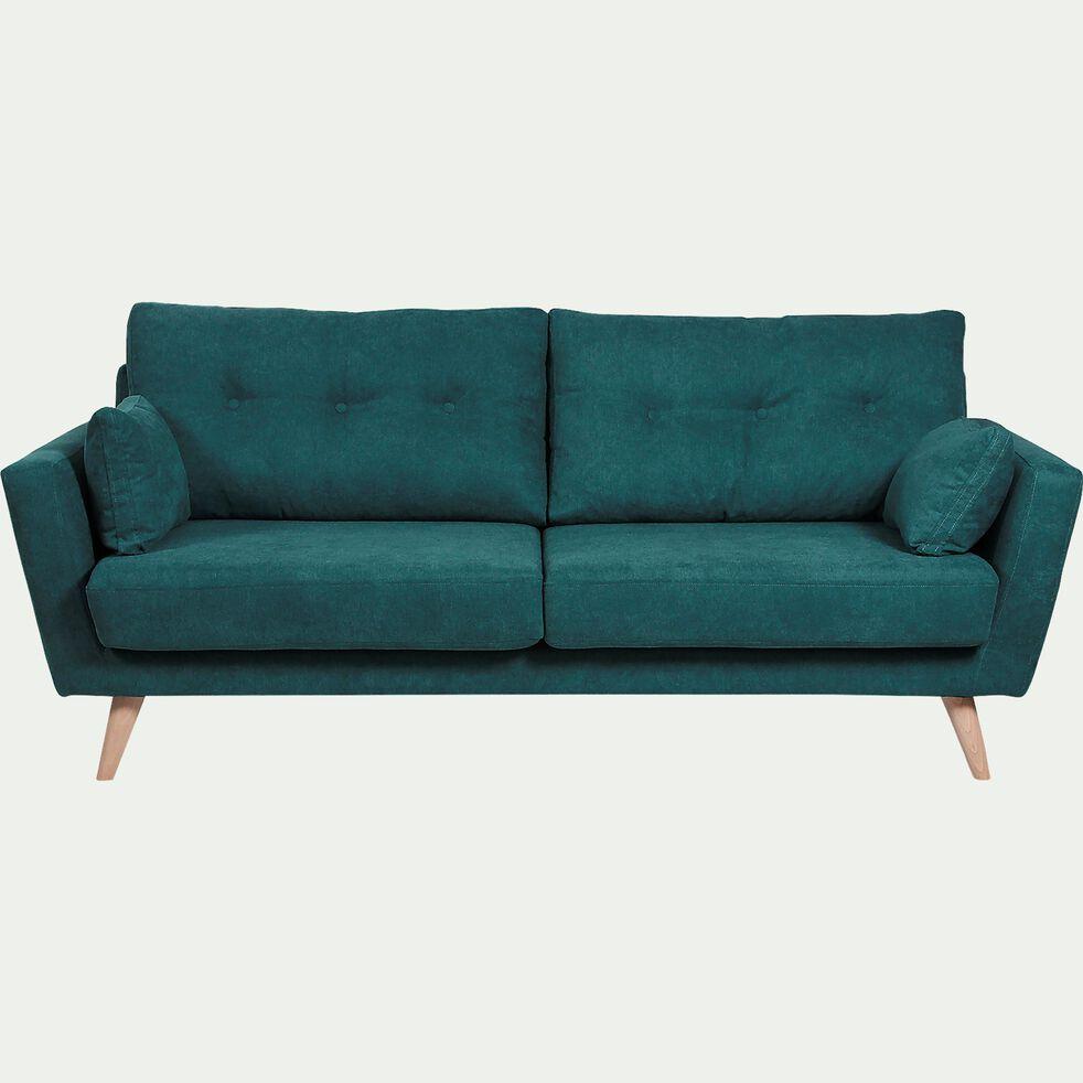 Canapé 3 places fixe en tissu - vert-ICONE