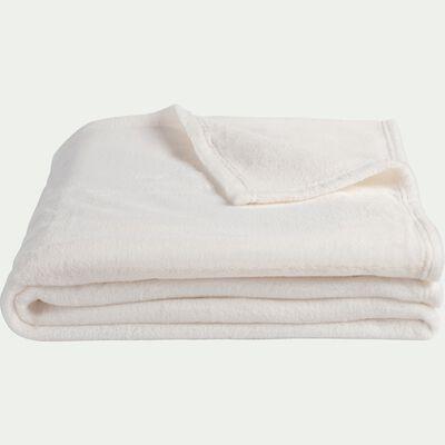 Plaid effet polaire en polyester - blanc ventoux 230x250cm-ROBIN