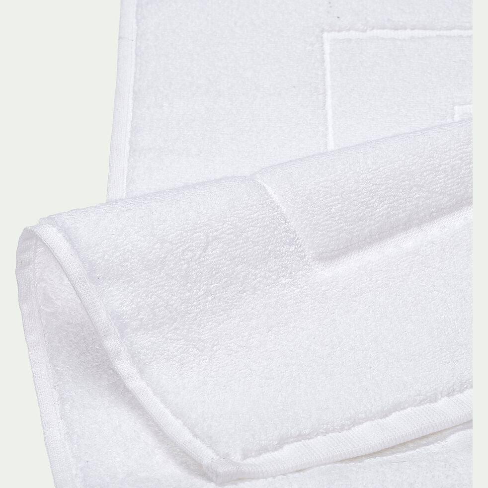 Tapis de bain en coton - blanc optique 50x80cm-AZUR