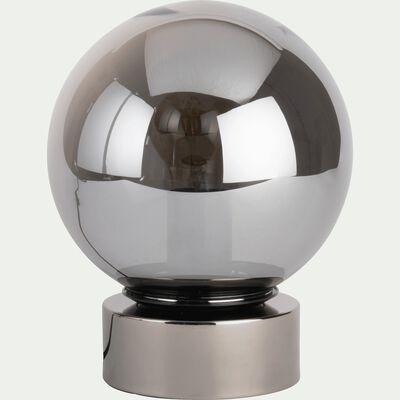 Lampe en verre fumé - D25cm-JORIT
