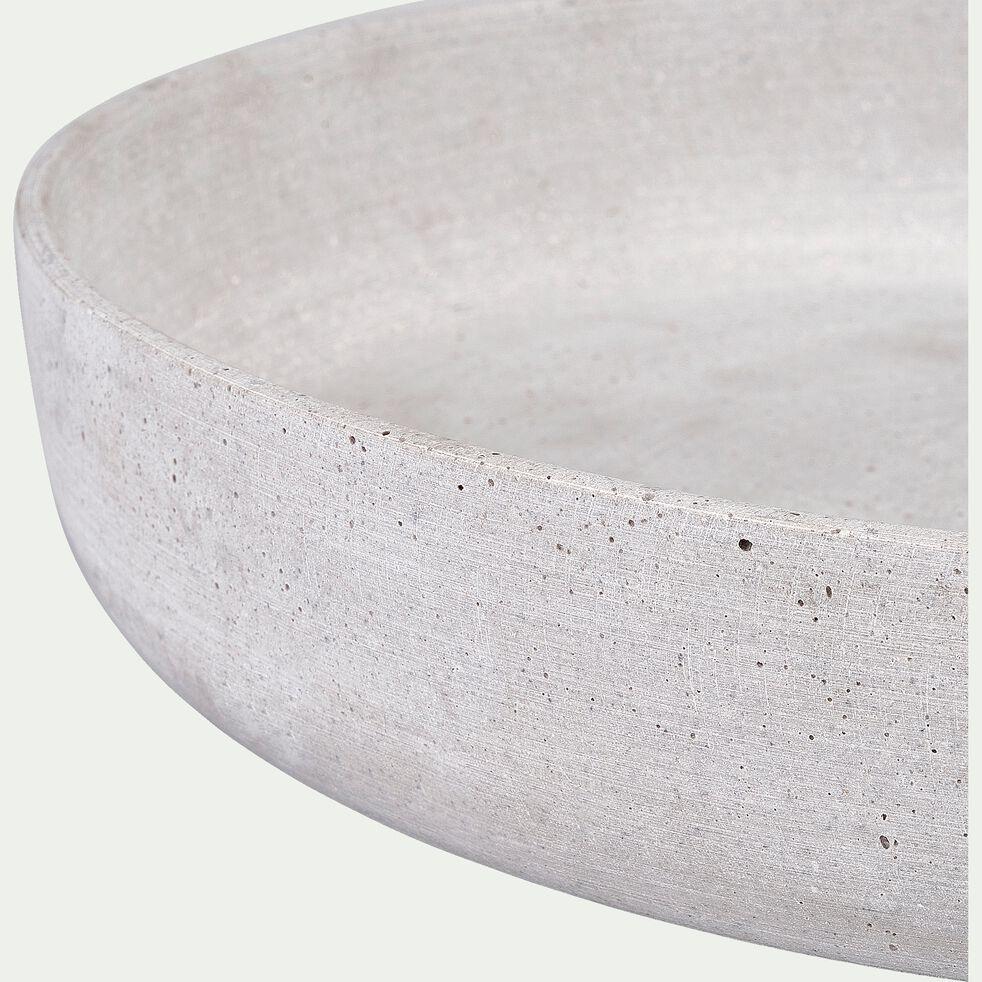 Coupe effet béton en polystone - gris D40cm-CALCIS