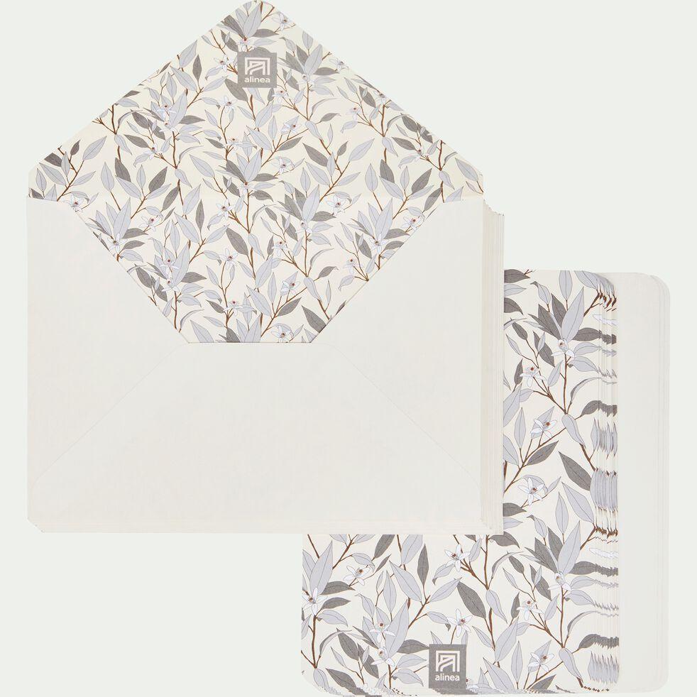 Lot de 20 enveloppes avec cartes fleur d'oranger-ORANGER