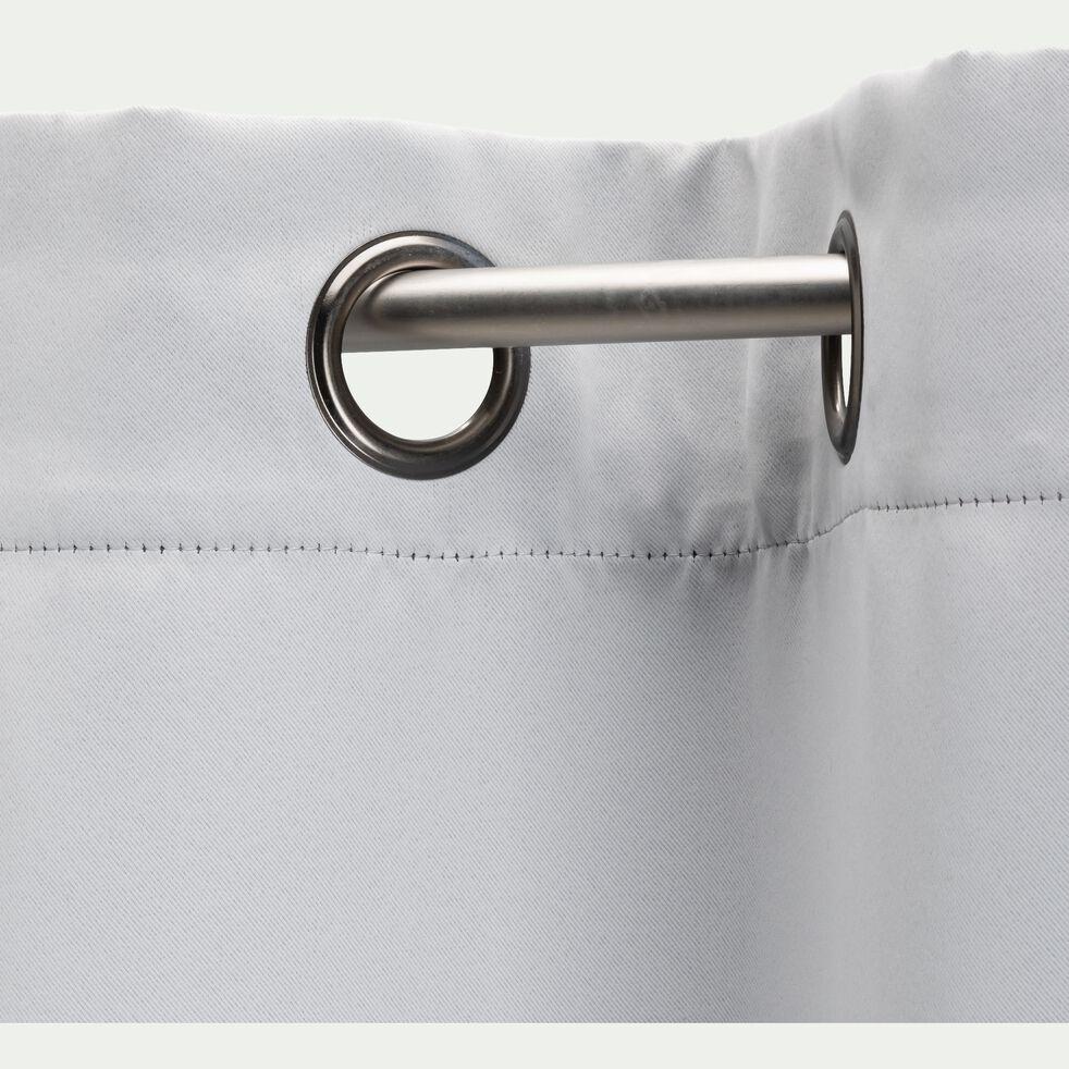 Rideau occultant à œillets en polyester - gris borie 140x250cm-GORDES