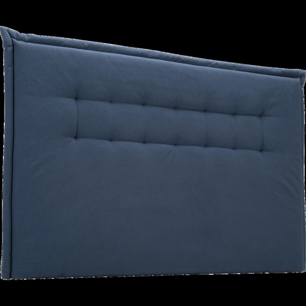 t te de lit en tissu capitonn bleu myrte l180 cm. Black Bedroom Furniture Sets. Home Design Ideas
