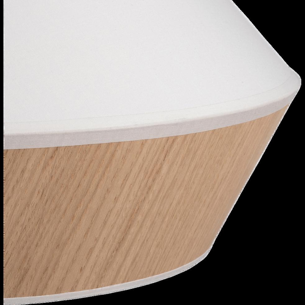 Suspension en tissu chêne et tissu blanc D40cm-DOMUS