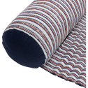Tapis de plage à motifs bleu et rouge 60x170 cm-SIDI