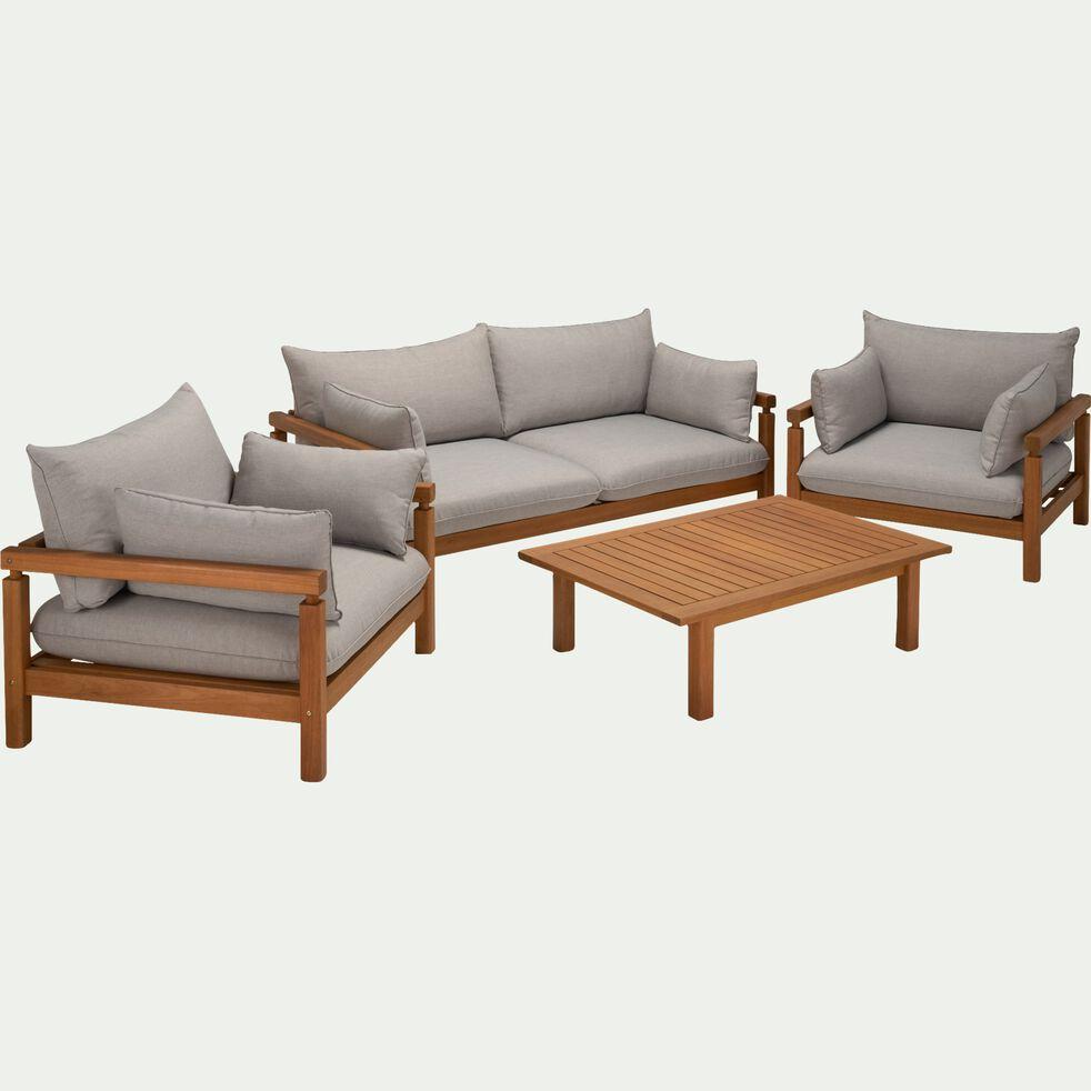 Canapé en eucalyptus - gris vesuve (2 places)-COMODO