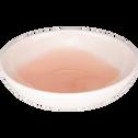 Assiette creuse en faïence rose grège D16cm-SANARY