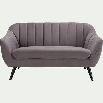 Canapé 2 places fixe en tissu - gris restanque-SHELL