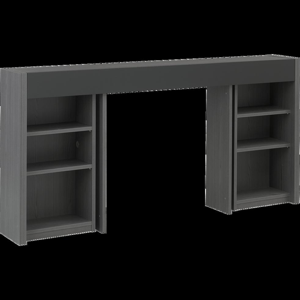 t te de lit rangeante grise pour lit l140 cm brooklyn l140 cm t tes et tiroirs de lit alinea. Black Bedroom Furniture Sets. Home Design Ideas
