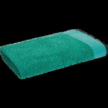 Drap de bain coton et lin vert menthe-ADONI