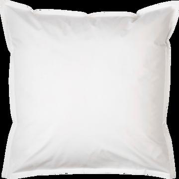 Lot de 2 taies d'oreiller en percale de coton Blanc Ventoux 65x65cm-FLORE