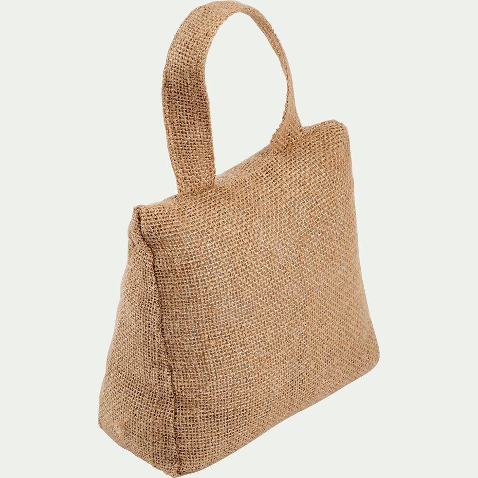 Cale-porte en sable et chanvre - naturel H18cm-KOLAN