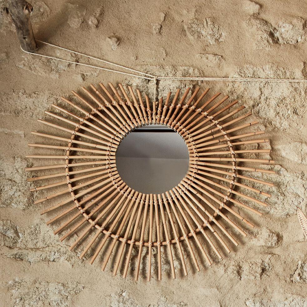 Miroir en rotin - naturel l75cm-Coraso
