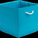 Panier carré pliable turquoise 31x31x31 cm-CORDE