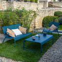Fauteuil de jardin en aluminium avec accoudoirs bleu figuerolles-Doume