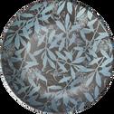 Assiette plate en grès noir D26cm-OMBRAGE