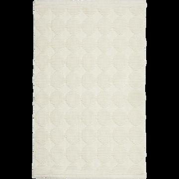 Tapis de bain en coton blanc 80 x 50cm-PRELE