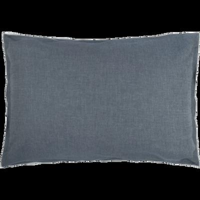 Lot de 2 taies d'oreiller en coton chambray Gris anthracite - 50x70 cm-FRIOUL