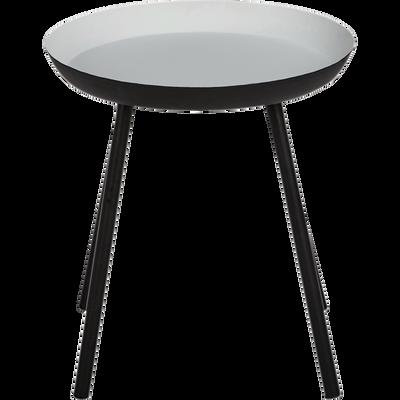 Bout de canapé en acier gris clair-SOUFIO