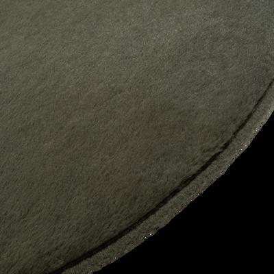 Tapis rond imitation fourrure vert cèdre - Plusieurs tailles-ROBIN