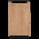 Bar pivotant bois et effet ardoise aux reflets marron-MADON