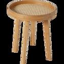 Bout de canapé en bambou avec cannage-CANE