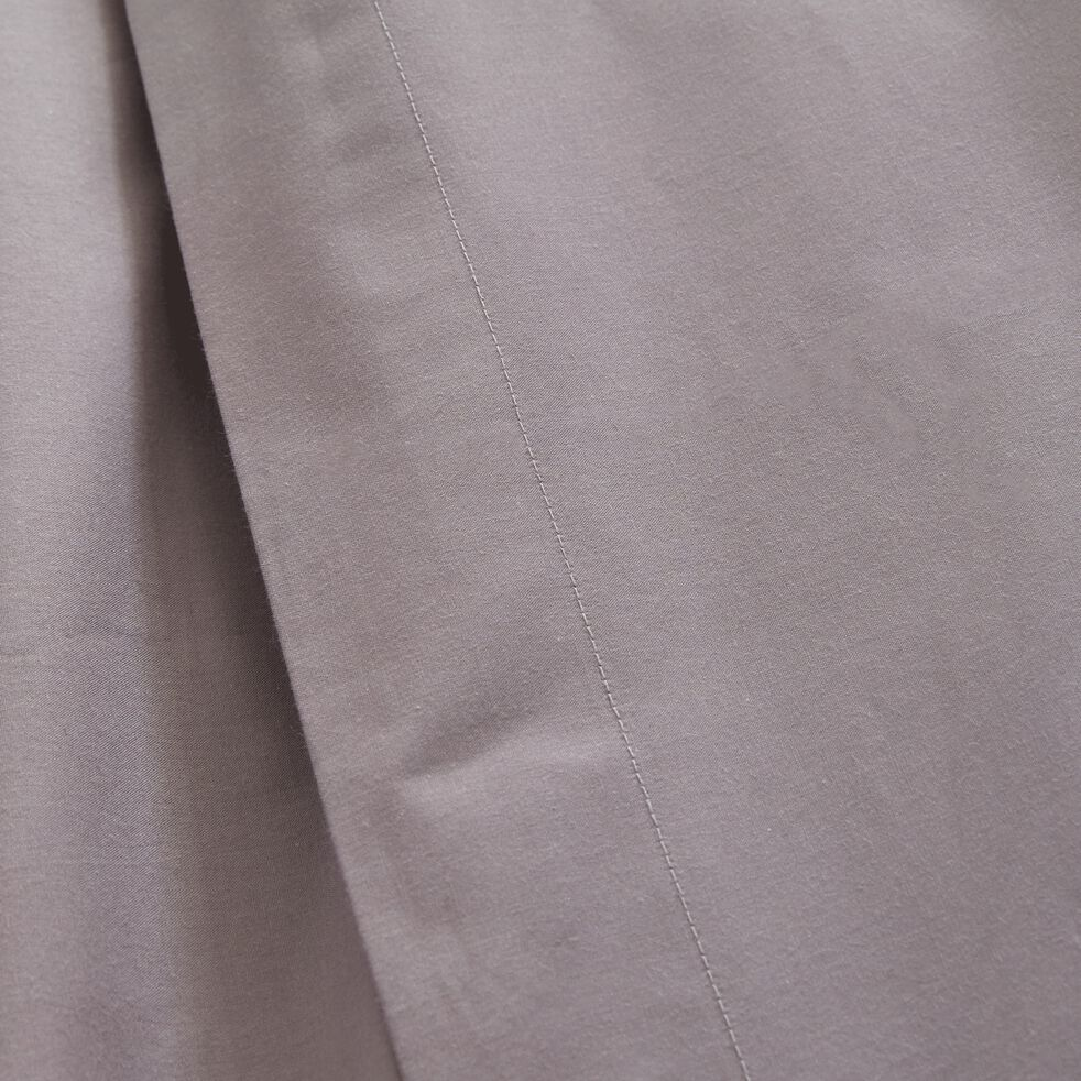 Housse de couette unie en percale gris restanque-FLORE