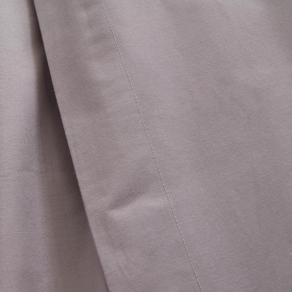 Linge de lit en percale gris restanque-FLORE