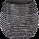 Panier déco en coton gris D21xH23cm-Willy