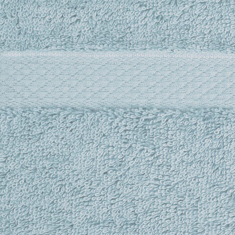 Serviette invité en coton peigné - bleu calaluna 30x50cm-AZUR