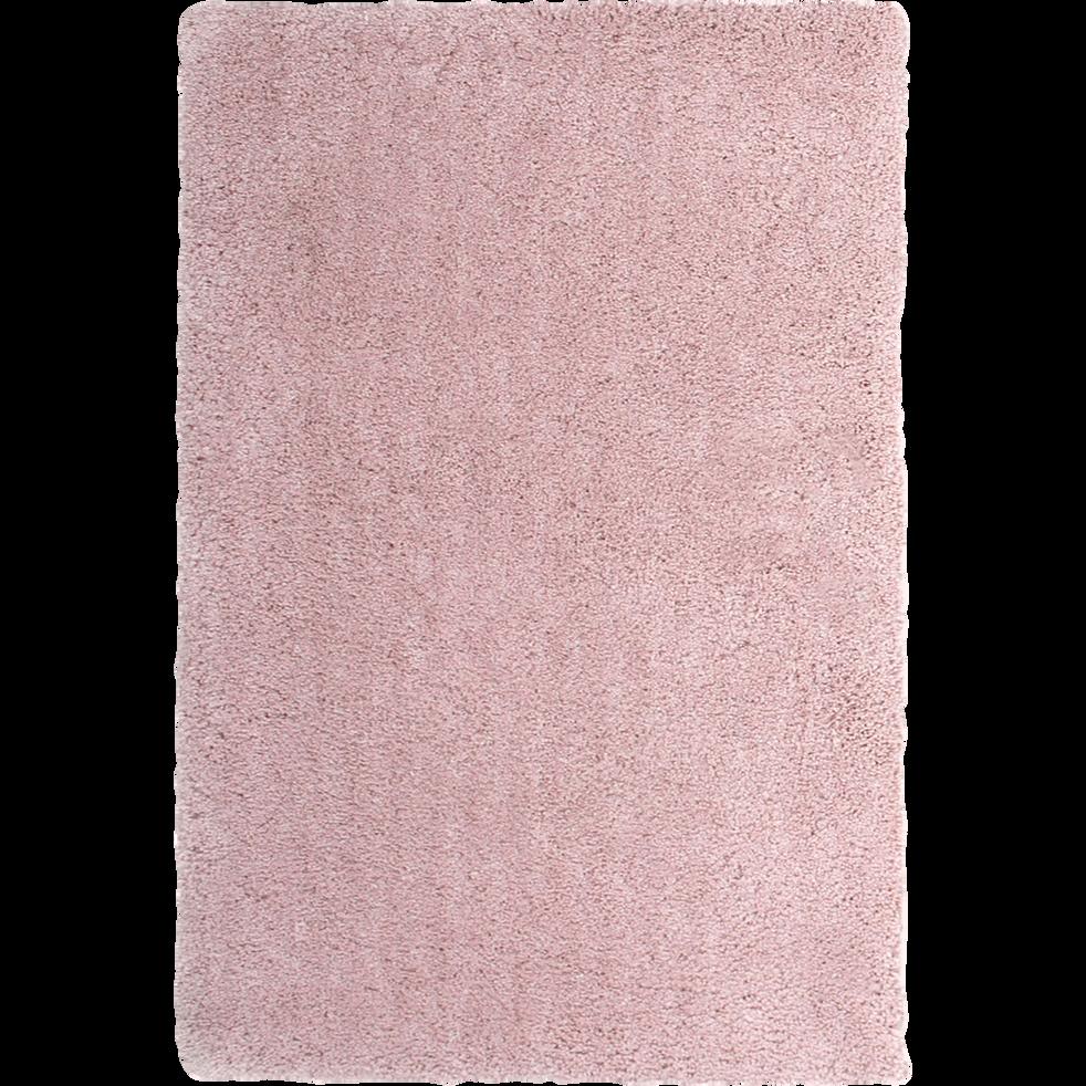 Tapis shaggy rose poudré 120x170cm - CLOUD - 120x170 cm - grands ...