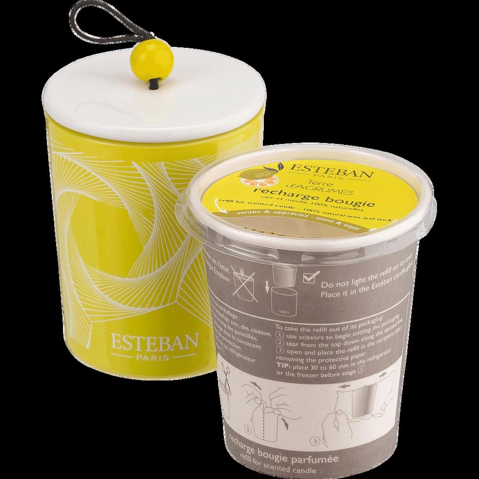 Recharge pour bougie parfumée terre d'agrumes 170g-AGRUMES