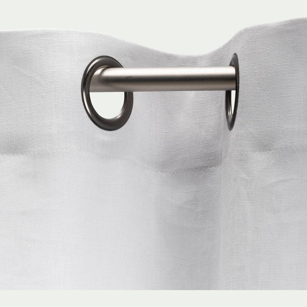 Rideau à œillets en lin - gris borie 140x300cm-VALLON