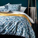 Housse de couette et 2 taies d'oreiller motif floral - bleu 260x240cm-PENSEE
