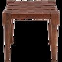 Pouf en bois carré beige roucas-DELES
