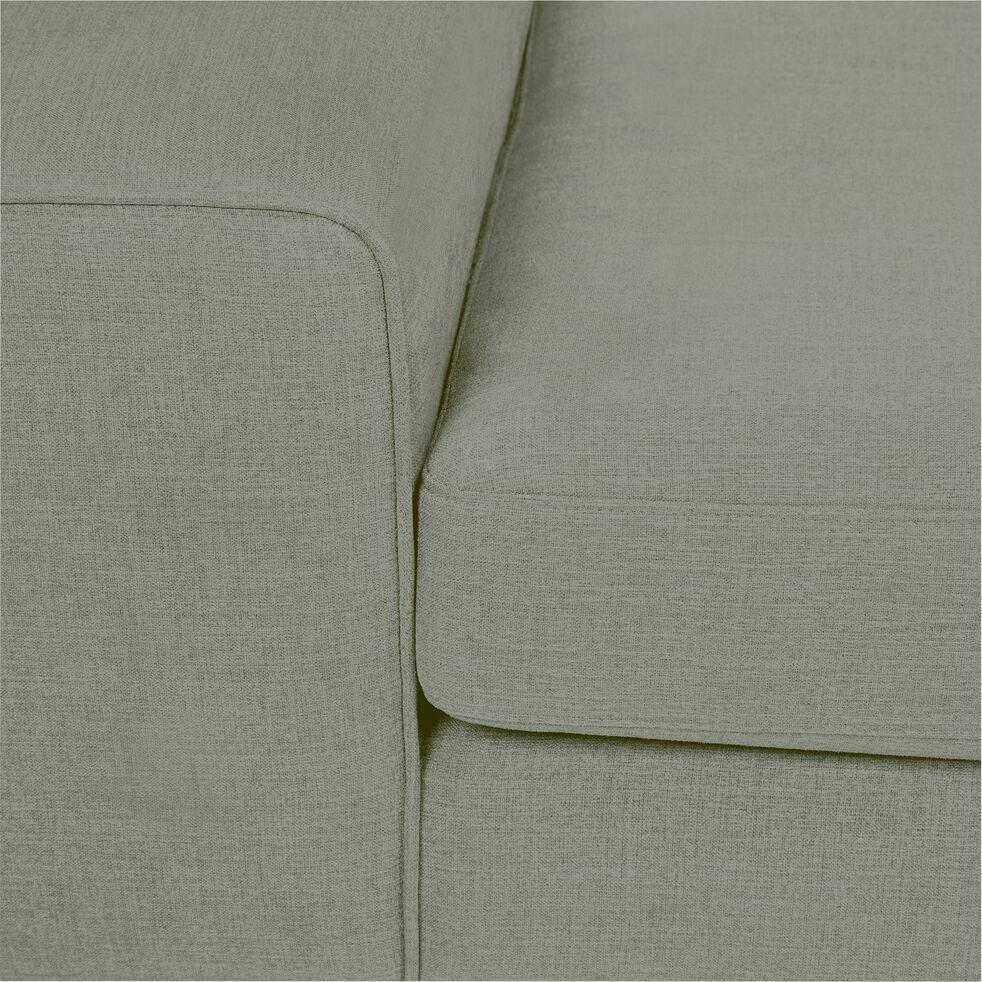 Canapé 3 places fixe en tissu - kaki-PICABIA