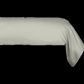 Taie de traversin en coton Vert olivier 43x190cm-CALANQUES