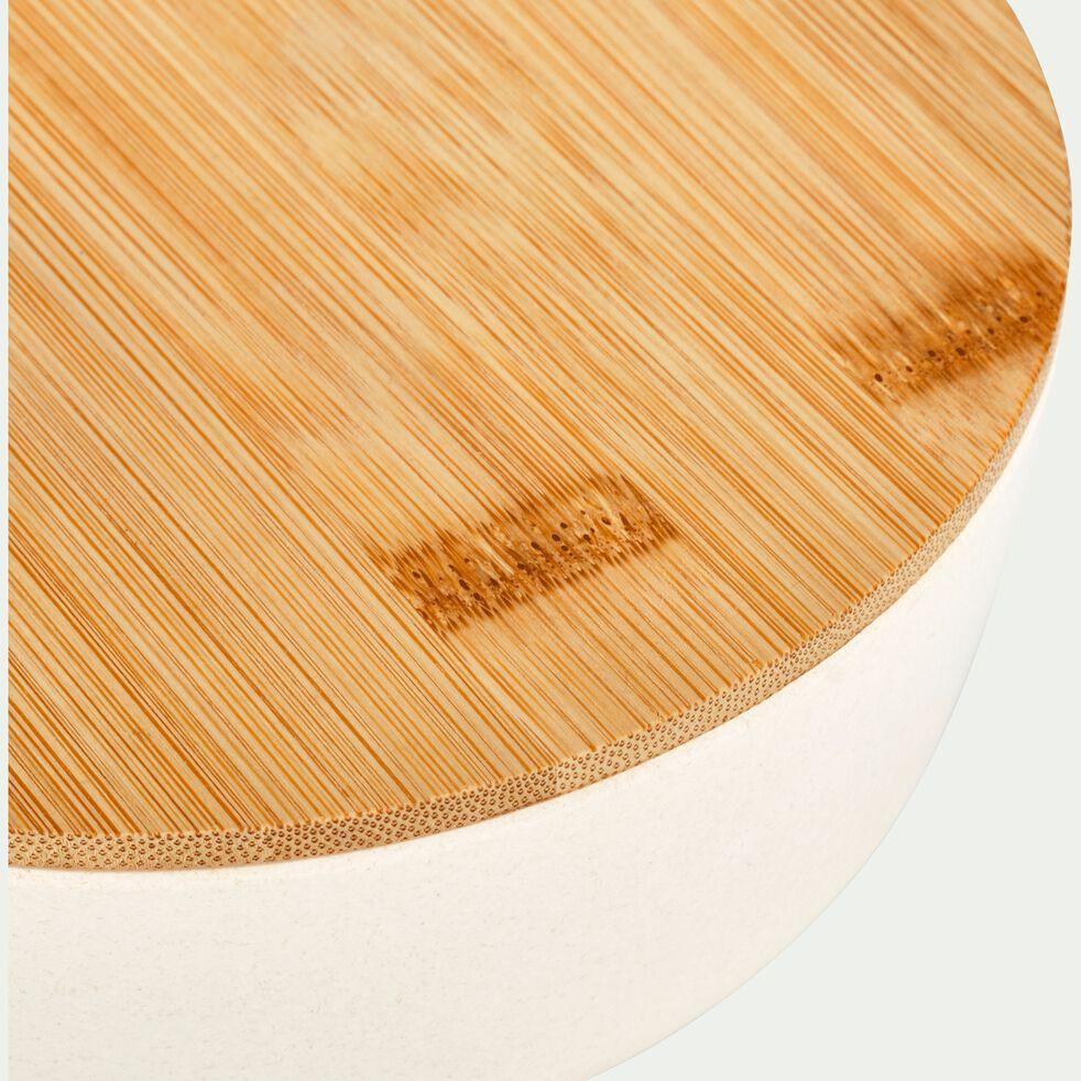 Saladier en fibre de bambou blanc D25,5cm-TREZ