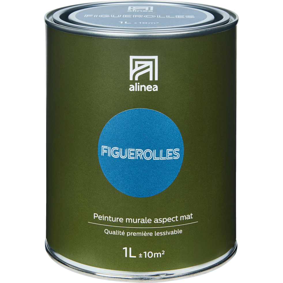 Peinture Acrylique Mate Multi Supports 1l Bleu Figuerolles