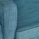 Fauteuil en tissu bleu-ASTORIA