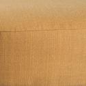 Pouf en tissu jaune-PLUME