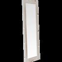 Miroir long rectangulaire en pin brossé Blanc-JALOUSIE