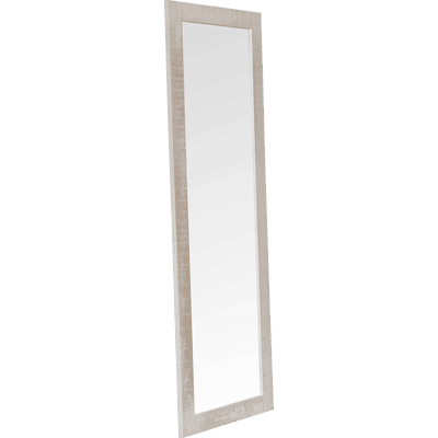 Miroir long rectangulaire en pin brossé Blanc-JALOUSIE