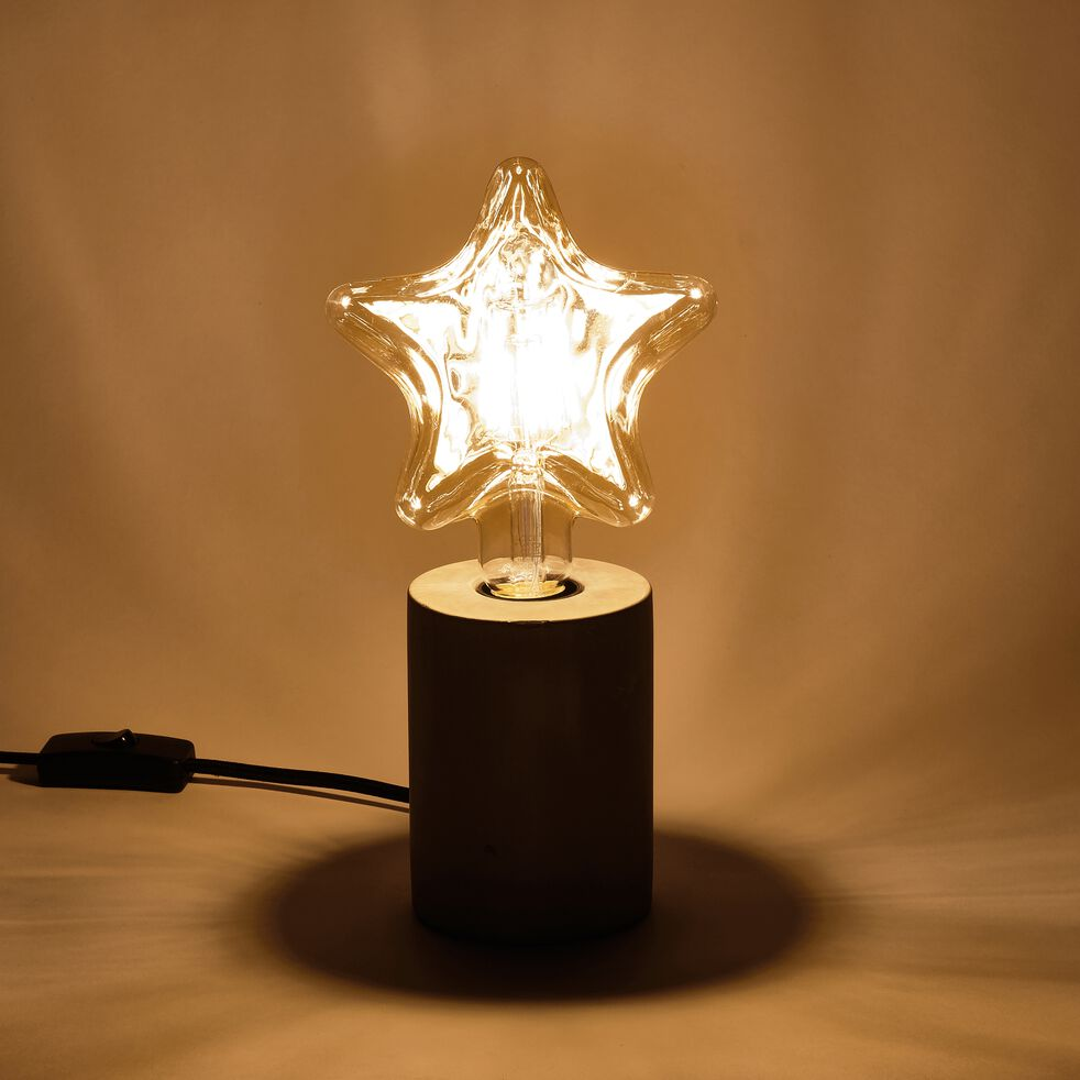 Ampoule LED décorative ambre H18cm culot E27-ETOILE