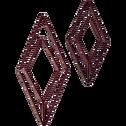Patère en métal rouge 1 emplacement L11xl4xH24cm-PACHA